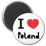 Amo Polonia Imán De Frigorífico