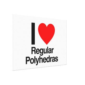 amo polyhedras regulares lienzo envuelto para galerías