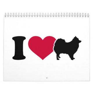 Amo Pomeranian Calendarios De Pared
