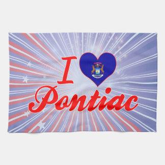 Amo Pontiac, Michigan Toallas De Cocina