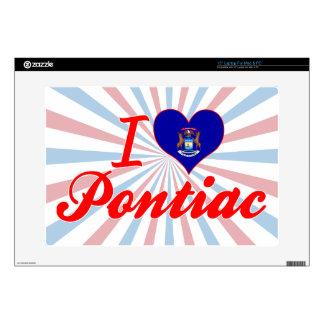 Amo Pontiac, Michigan Calcomanías Para Portátiles