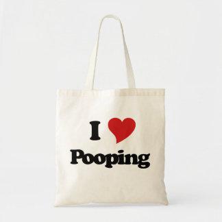 Amo Pooping Bolsa Tela Barata