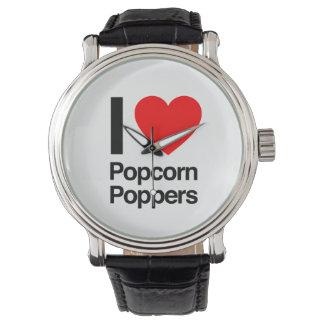 amo poppers de las palomitas relojes de mano