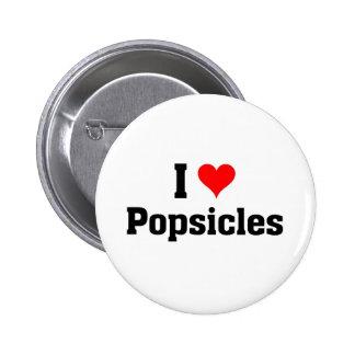 Amo Popsicles Pin Redondo De 2 Pulgadas