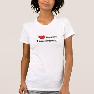 Amo porque me perdonan la camiseta remera