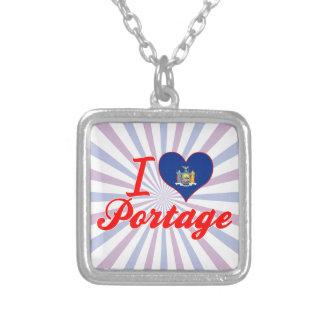 Amo Portage, Nueva York Pendiente Personalizado