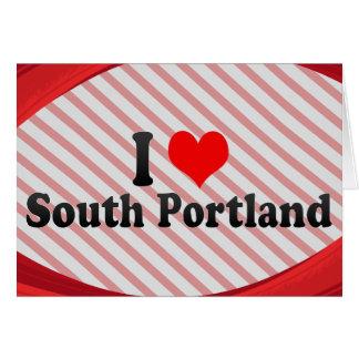 Amo Portland del sur, Estados Unidos Tarjeton