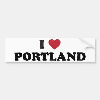 Amo Portland Oregon Etiqueta De Parachoque