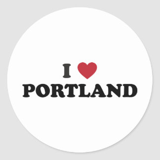 Amo Portland Oregon Pegatina Redonda