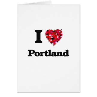 Amo Portland Oregon Tarjeta De Felicitación