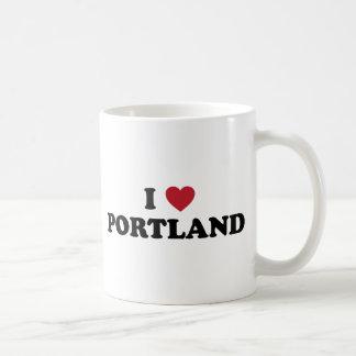 Amo Portland Oregon Tazas De Café
