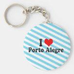 Amo Porto Alegre, el Brasil Llaveros Personalizados