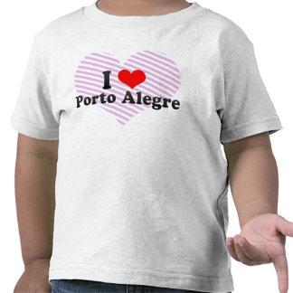 Amo Porto Alegre, el Brasil Camisetas