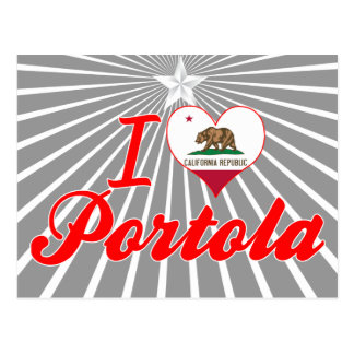 Amo Portola, California Tarjeta Postal