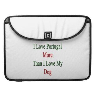 Amo Portugal más que amor de I mi perro Funda Macbook Pro