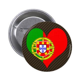 Amo Portugal Pin Redondo De 2 Pulgadas