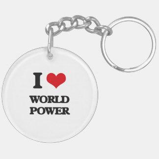 Amo potencia mundial llavero redondo acrílico a doble cara
