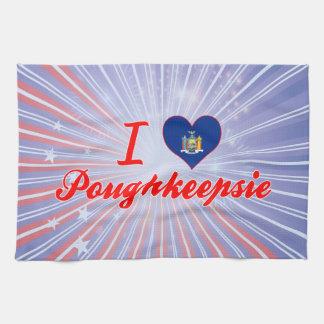 Amo Poughkeepsie, Nueva York Toalla De Cocina