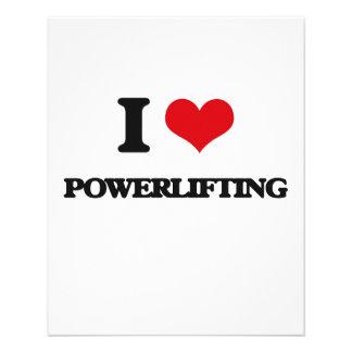 "Amo Powerlifting Folleto 4.5"" X 5.6"""