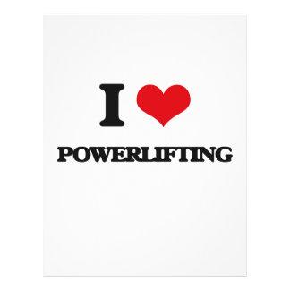 "Amo Powerlifting Folleto 8.5"" X 11"""