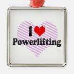 Amo Powerlifting Ornamento De Navidad