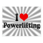 Amo Powerlifting Tarjeta Postal