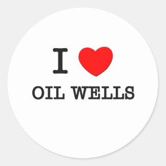 Amo pozos de petróleo pegatina redonda