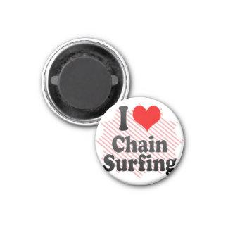 Amo practicar surf de cadena iman