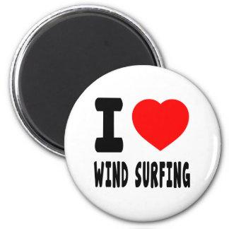 Amo practicar surf del viento imán de frigorifico