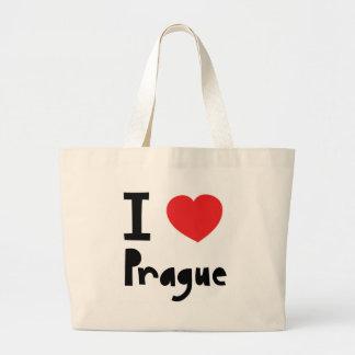 Amo Praga Bolsa Tela Grande
