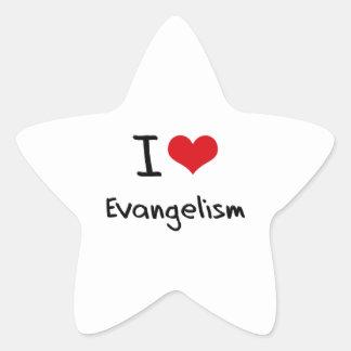 Amo predicación del evangelio pegatinas forma de estrella personalizadas