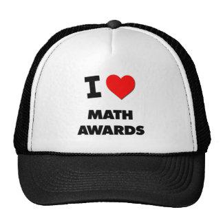 Amo premios de la matemáticas gorra