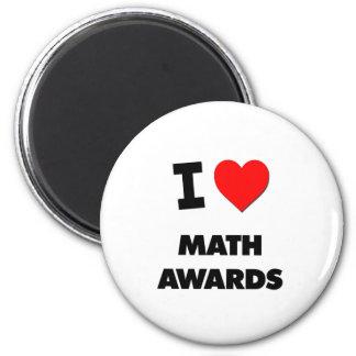 Amo premios de la matemáticas iman para frigorífico