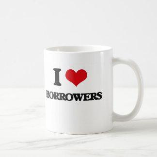 Amo prestatarios taza