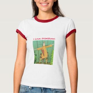 ¡Amo primitivos! Camiseta del campanero del ángel Playeras