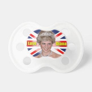 """""""Amo princesa Diana de HRH de Diana"""" Chupete De Bebé"""