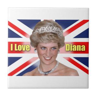 """""""Amo princesa Diana de HRH de Diana"""" Teja Ceramica"""