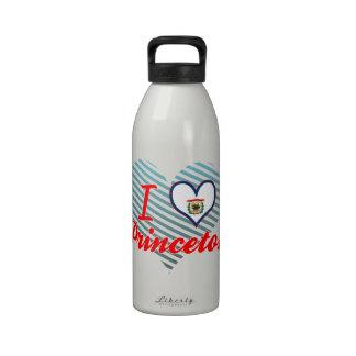 Amo Princeton, Virginia Occidental Botella De Agua