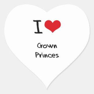 Amo Príncipes herederos Calcomanía Corazón