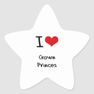 Amo Príncipes herederos Pegatina Forma De Estrella Personalizada