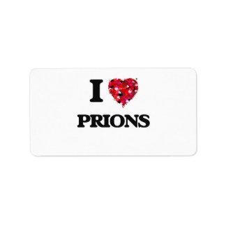 Amo priones etiquetas de dirección