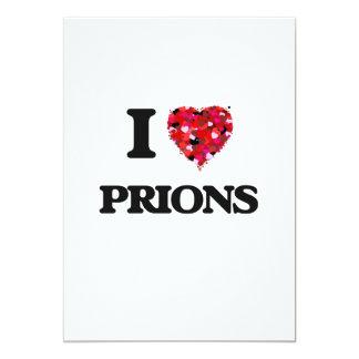 """Amo priones invitación 5"""" x 7"""""""