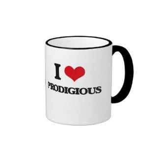 Amo prodigioso taza a dos colores