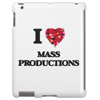 Amo producciones en masa funda para iPad
