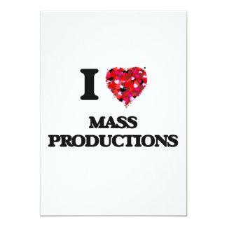 """Amo producciones en masa invitación 5"""" x 7"""""""