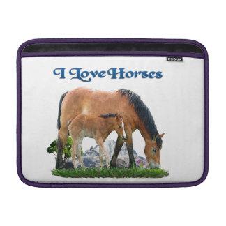 Amo productos de los caballos funda macbook air