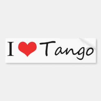 ¡Amo productos frescos del tango! Pegatina Para Auto