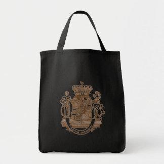 Amo productos heráldicos del escudo del tocino bolsas