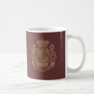 Amo productos heráldicos del escudo del tocino taza de café