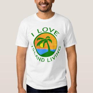 Amo productos vivos de la isla camisas